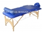 Preview: MASSAGE LIEGE W8 ML13 Holz/Alu blau